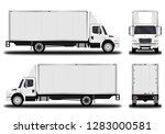 realistic truck. front view ... | Shutterstock .eps vector #1283000581
