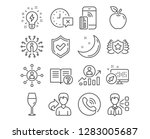 set of time  third party and... | Shutterstock .eps vector #1283005687