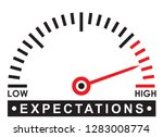 high expectations   monitoring  ... | Shutterstock .eps vector #1283008774