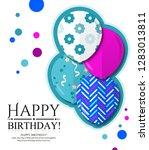 happy birthday invitation card... | Shutterstock .eps vector #1283013811