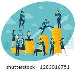flat design vector illustration ... | Shutterstock .eps vector #1283016751