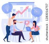 flat design business process... | Shutterstock .eps vector #1283016757