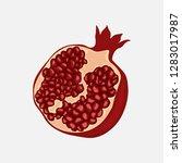 pomegranate design juicy fresh... | Shutterstock .eps vector #1283017987