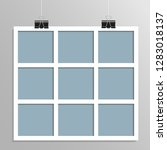templates collage nine frames... | Shutterstock .eps vector #1283018137