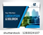 blue cover page or screen... | Shutterstock .eps vector #1283024107