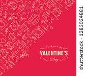 happy valentines day postcard... | Shutterstock .eps vector #1283024881
