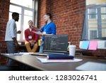technical algorithm or chain of ... | Shutterstock . vector #1283026741