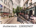 paris  france   july 07  2018 ... | Shutterstock . vector #1283029657
