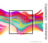 abstract colorful wavy lines... | Shutterstock .eps vector #1283030911
