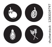 4 vector icon set   eggplant ... | Shutterstock .eps vector #1283039797