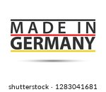 colored symbol with german... | Shutterstock .eps vector #1283041681