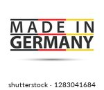colored symbol with german... | Shutterstock .eps vector #1283041684