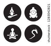 4 vector icon set   saraswati ... | Shutterstock .eps vector #1283042821