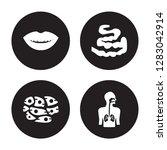 4 vector icon set   smiling... | Shutterstock .eps vector #1283042914