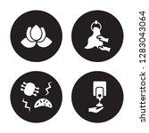 4 vector icon set   purity ... | Shutterstock .eps vector #1283043064