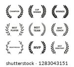 sport awards and best nominee... | Shutterstock .eps vector #1283043151
