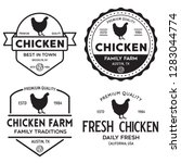 set of chicken logo  retro... | Shutterstock .eps vector #1283044774