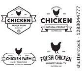 set of chicken logo  retro... | Shutterstock .eps vector #1283044777