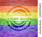 genuine quality on mosaic... | Shutterstock .eps vector #1283045641