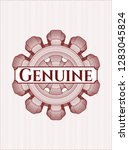 red rosette  money style emblem ... | Shutterstock .eps vector #1283045824