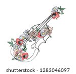 vector hand drawn graphic... | Shutterstock .eps vector #1283046097