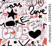 creative modren graffiti... | Shutterstock .eps vector #1283048281
