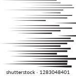 speed lines in arrow form .... | Shutterstock .eps vector #1283048401