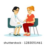 medicine concept with... | Shutterstock .eps vector #1283051461