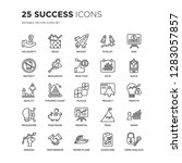 set of 25 success linear icons... | Shutterstock .eps vector #1283057857
