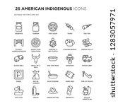 set of 25 american indigenous... | Shutterstock .eps vector #1283057971