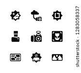 vector illustration of 9 icons. ... | Shutterstock .eps vector #1283058337
