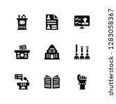 vector illustration of 9 icons. ... | Shutterstock .eps vector #1283058367