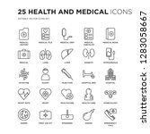 set of 25 health and medical... | Shutterstock .eps vector #1283058667
