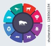 animals vector template for...   Shutterstock .eps vector #1283061154