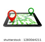 city plan with gps navigation ... | Shutterstock .eps vector #1283064211