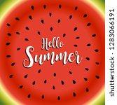 hello summer background vector...   Shutterstock .eps vector #1283066191