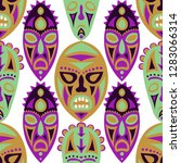 vector illustration. tribal... | Shutterstock .eps vector #1283066314