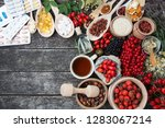 medicinal tablets and pills and ... | Shutterstock . vector #1283067214