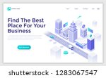 landing page with city street ... | Shutterstock .eps vector #1283067547