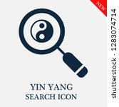 yin yang search icon. editable... | Shutterstock .eps vector #1283074714