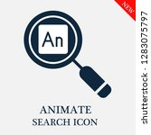 animate search icon. editable...