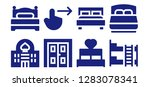 double icon set. 8 filled... | Shutterstock .eps vector #1283078341