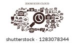 zoom icon set. 93 filled zoom... | Shutterstock .eps vector #1283078344