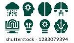 brainstorm icon set. 8 filled... | Shutterstock .eps vector #1283079394