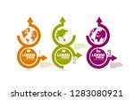 infographic vector elements for ... | Shutterstock .eps vector #1283080921