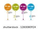 infographic vector elements for ... | Shutterstock .eps vector #1283080924