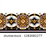 border with golden baroque... | Shutterstock .eps vector #1283082277