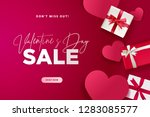valentines day. vector... | Shutterstock .eps vector #1283085577