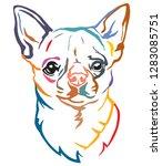 colorful decorative portrait of ... | Shutterstock .eps vector #1283085751