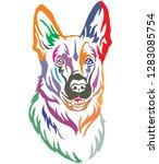 colorful decorative portrait of ... | Shutterstock .eps vector #1283085754